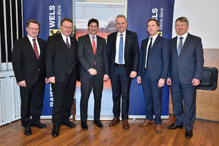 Wolfgang Riedl, Paul Rübig, Peter Brezinschek, Günter Stadlberger, Roland Auberger und Herbert Brandmayr;