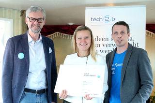 LH-Stellvertreter Michael Strugl, Christina Haas und Markus Manz, Geschäftsführer tech2b.
