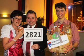 Vlnr: Monika Jagositz, Bürgermeister Bernahrd Karnthaler, Christoph Samm.