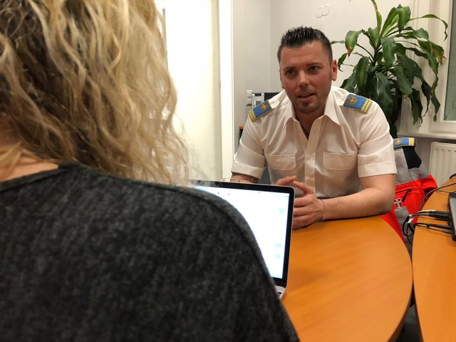 Matthias Kießlinger im Interview mit bz-Redakteurin Conny Sellner.