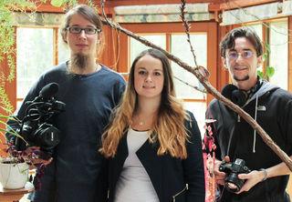 Filmemacher Christian Pfabigan, Anna Haghofer (Landjugend NÖ) und Reinhard Pölzl (lichtspiel Allentsteig)