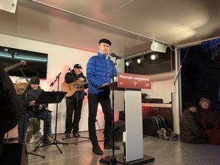 Gerald Netzl, Vorsitzender des Bundes Sozialdemokratischer Freiheitskämpfer/innen Wien, bei der Gedenkveranstaltung.