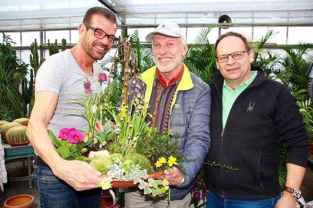Biogärtner Karl Ploberger, Gewinner August Höpfler und Thomas Dopetsberger.