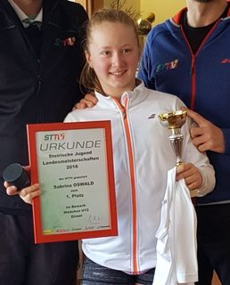 Sabrina Oswald holte den U12-Meistertitel.