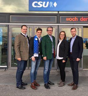 Florian Wöhry, JVP-Landesobmann LAbg. Lukas Schnitzer, Landesrat Christopher Drexler, Anna Hopper, Niklas Lierzer(v.l.).