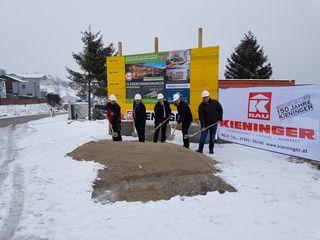 Spatenstich für neue Wohnanlage in Windhag, Gemeinde Nußbach