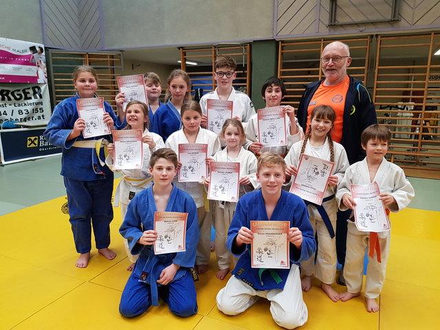 Die erfolgreichen Judokas des JZ Rapso