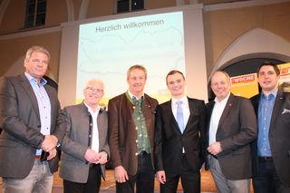 Die Kandidaten diskutierten: Gerhard Köfer (Team Kärnten), Alfred Tiefnig (SPÖ), Ferdinand Hueter (ÖVP), Sebastian Glanzer (Grüne), Hermann Bärntatz (Neos) und Christoph Staudacher (FPÖ)