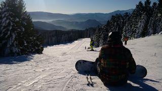 Seit heute ist nach dem Schneefall von letzter Nacht auch die spektakuläre Talabfahrt geöffnet.