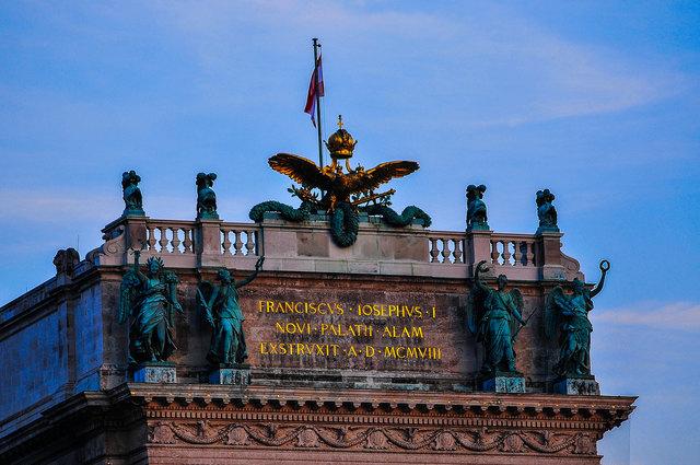 ..Detailaufnahme Hofburg Wien Innere Stadt...
