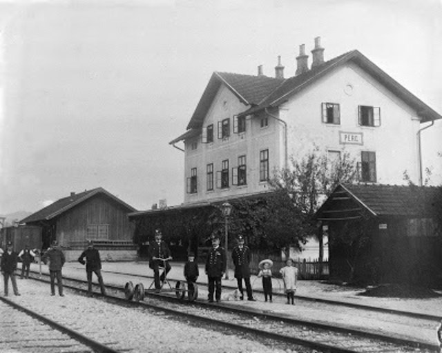 Bahnhof Perg um 1910, Quelle: Heimat- und Museumsverein Perg