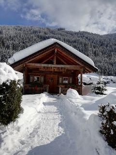 Malerische Hütte bei einen Spaziergang in Flachau entdeckt.