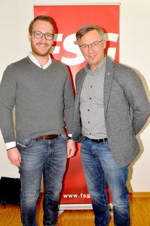 Philip Wohlgemuth und Christian Hauser in Kitz.