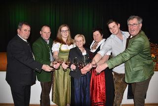v.l.: Bernhard Karnthaler, Fritz Schadl, Alexandra Böhm, Hannelore Handler-Woltran, Traude Brix, Lukas Döller, Martin Preineder.