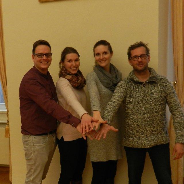 Das Team für die Gesunde Region Vorau (v.l. Gesundheitskoordinator Patriz Pichlhöfer, Tourismusbeauftragte Antonia Kirchsteiger, Bildungshausdirektorin Sonja Romirer-Maierhofer, Obmann Verein Sub Terra Johann Schweighofer)