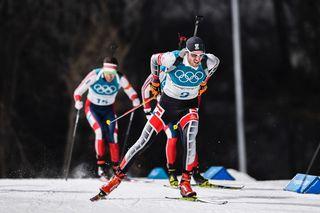 Dominik Landertinger 12. im Massenstart.