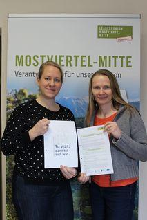 Isabella Größbacher-Stadler und Petra Scholze-Simmel
