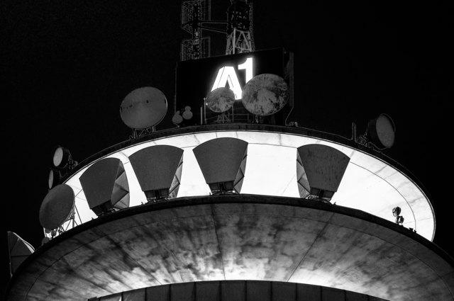 ... Detailaufnahme vom A1 Turm in Wien