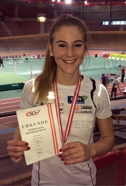 Karin Strametz kann sich über Silber und Bronze freuen.