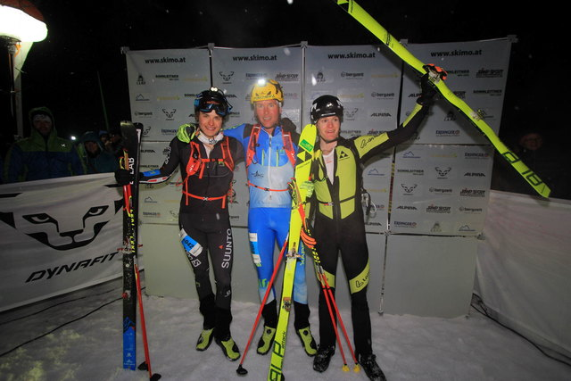 Das Herrenpodest vom Sprintbewerb in Berchtesgaden: Alexander Brandner (re.) aus Bischofshofen landete auf Rang drei.