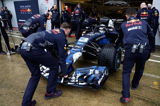 Erste Ausfahrt in Silverstone. Foto: RB/Getty Images