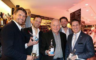 Peter Lehner, Markus Ploberger, Johannes Peinsteiner See Destillerie, Michael Ploberger und Bgm. Andreas Rabl.
