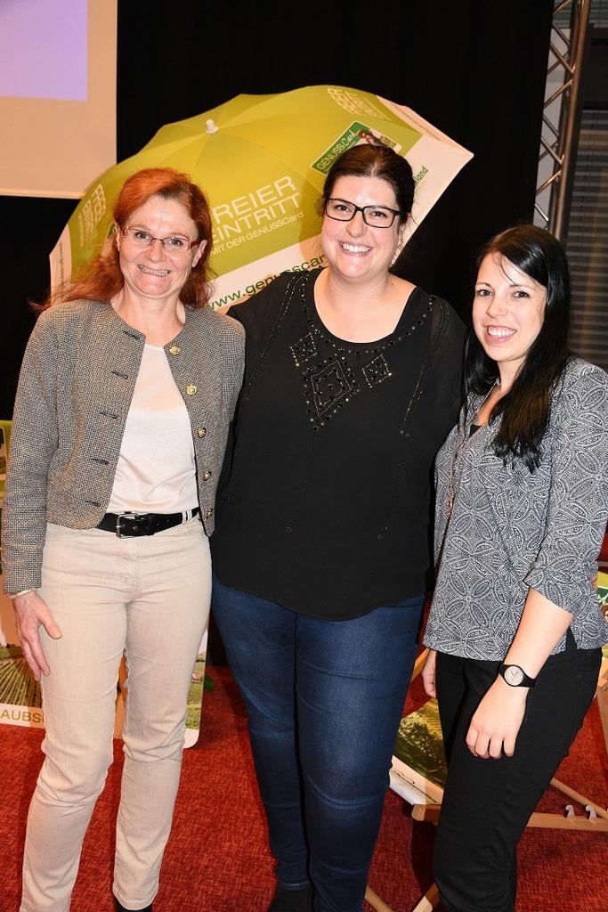 Präsentierten die Highlights der siebten GenussCard Saison: Susanna Fritz, Belinda Schagerl-Poandl und Nicole Prem (v.l.) vom Thermenland Steiermark.
