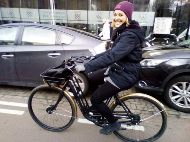 Sportlich, sportlich: Selbst während ihres Amsterdam-Aufenthalts hielt Verena Schaupp ihr Fastenvorhaben.