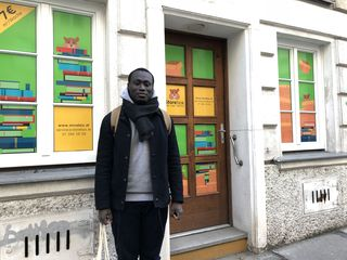 Kwabena Yeboah vor der neuen StoreBox in der Kolschitzkygasse 9 im vierten Bezirk.