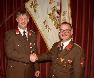 Andreas Stocker übernahm das Kommando von Georg Pedarnig (r.)