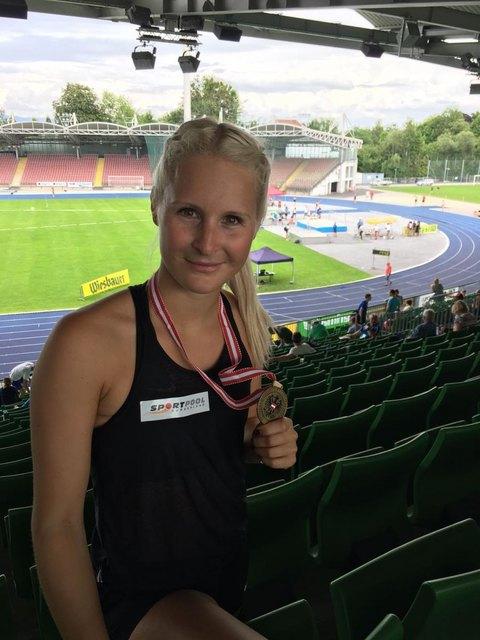 Yvonne Zapfel holte bei den Hallenstaatsmeisterschaften Bronze über 60m Hürden.