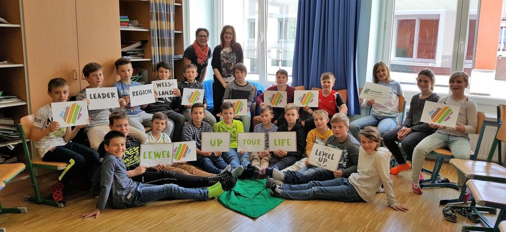 In zahlreichen Workshops wurden Schüler an das Thema Nachhaltigkeit herangeführt. Hier die Klasse 1B der SMS Lambach.