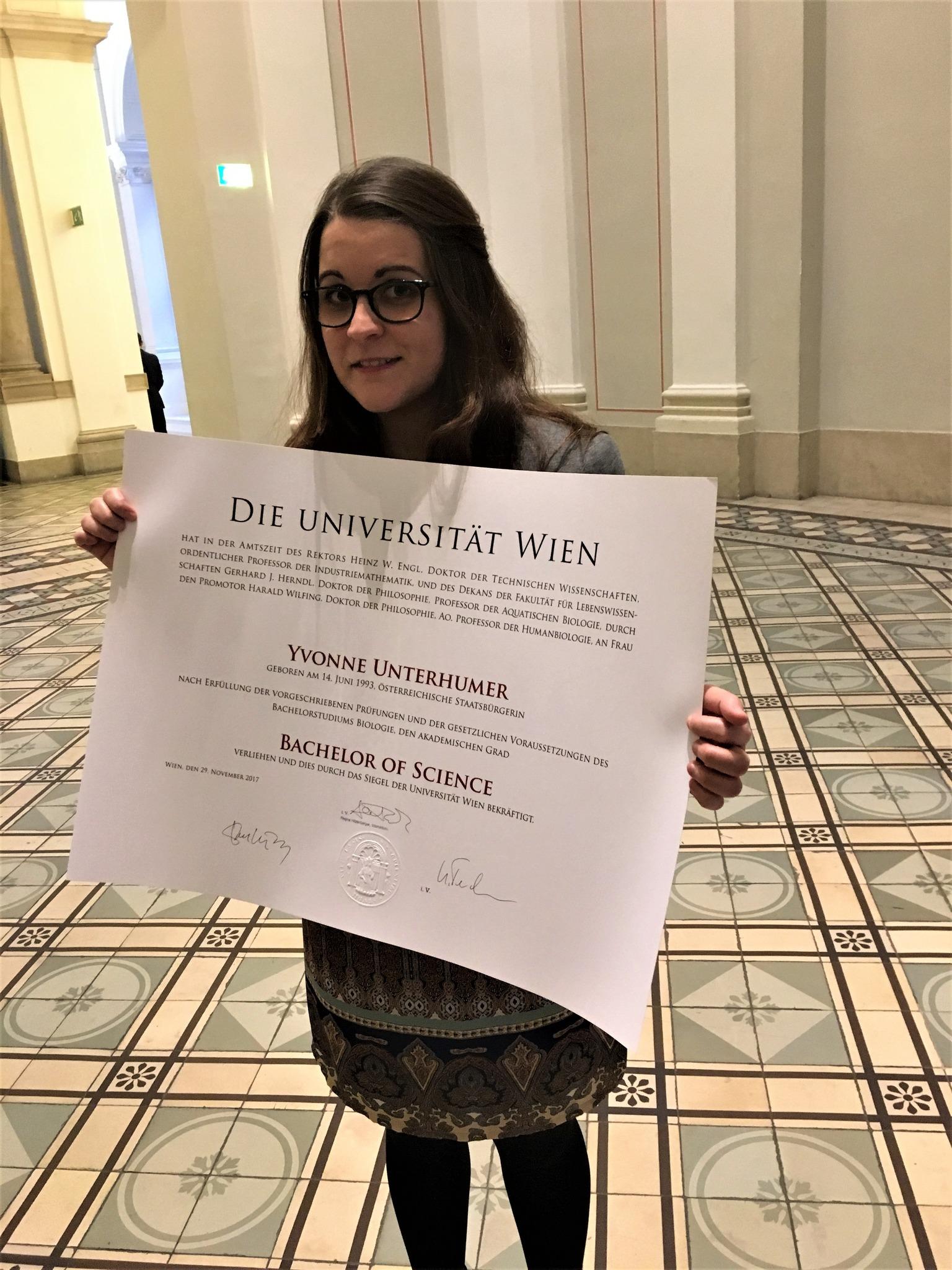 Purgstallerin Erhielt Bachelor Of Science Scheibbs