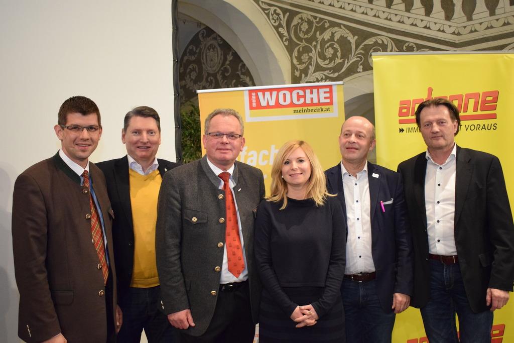 Diskutierten: Martin Gruber, Rene Cerne, Klaus Köchl, Heidrun Knafl, Gabriel Hribar und Franz Pirolt (von links)