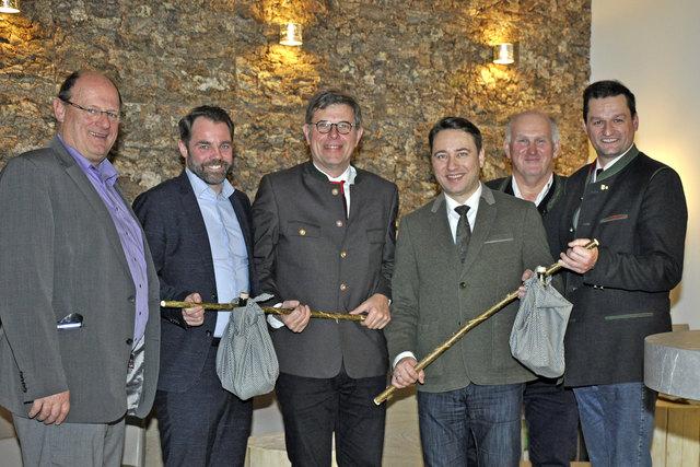 Bürgermeister Aegidius Exenberger, Michael Obermair, Wolfgang Modera, Manfred Haimbuchner, Peter Schoißwohl, Michael Gruber