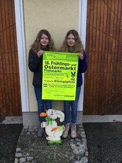 Petra und Sonja laden zum 18. Frühlings- und Ostermarkt ein.