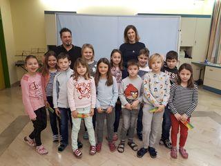 Die Kinder der VS Groß St. Florian beim Präventionsprojekt.