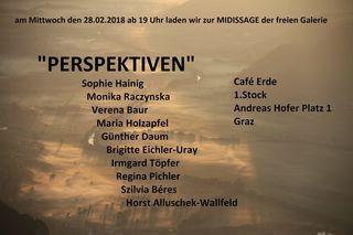 """Einladung zur Februar-Midissage """"Perspektiven"""" der :freien galerie:"""