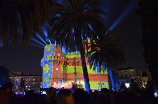 Crida die Eröffnungsfeier am Stadttor mit Videomapping und natürlich Feuerwerk, Videos auf FB