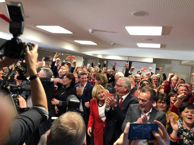 Großer Jubel bei der SPÖ in der Lidmanskygasse