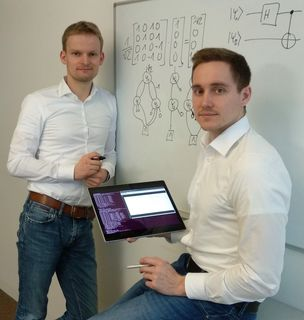 Robert Wille und Doktoratsstudent Alwin Zulehner