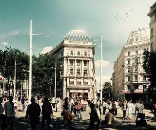 So soll das zum Hotel Motto mit seiner markanten neuen Kuppel umgebaute Hotel Kummer aussehen
