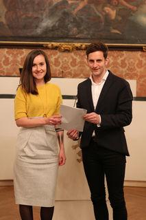 Jugendsprecher der Zukunftskoalition: Michaela Grubesa (SP) und Lukas Schnitzer (VP)