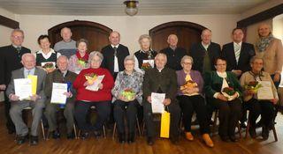 Gruppenfoto zur Jahreshauptversammlung des Seniorenbunds Pichl mit den geehrten Mitgliedern.