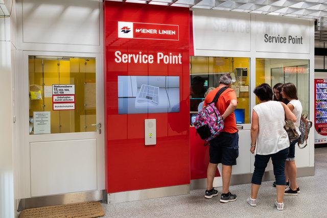 Der Service Point Erdberg ist bereits in Betrieb. Der Stationswart wird aber schon bald die Station verlassen.