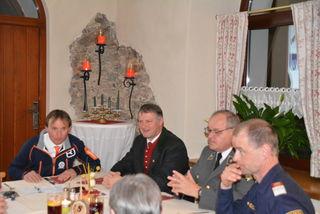 Auch Vertreter von Bergrettung und Polizei waren als Gäste anwesend.