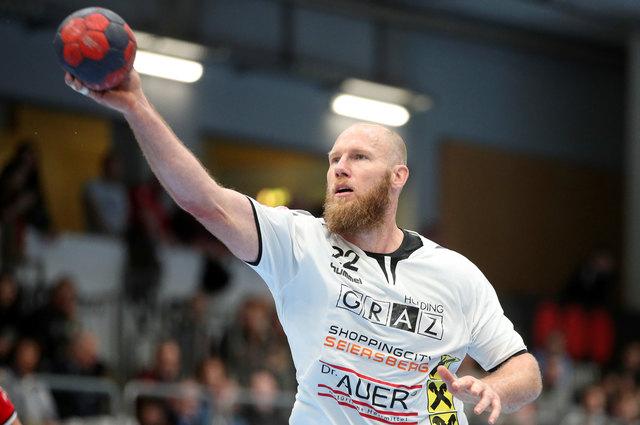 Der Leitwolf: Spielertrainer Ales Pajovic aus Slowenien ist einer von aktuell vier Legionären im Kader der HSG Graz.