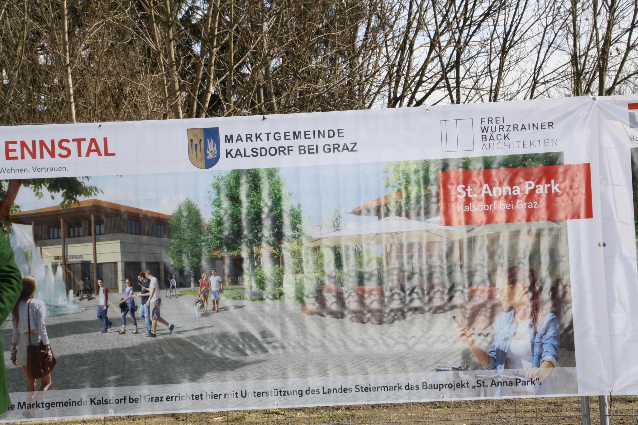 Spatenstich Zum St Anna Park In Kalsdorf Graz Umgebung