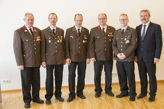Das neue Kommando der FF Bad Kreuzen.