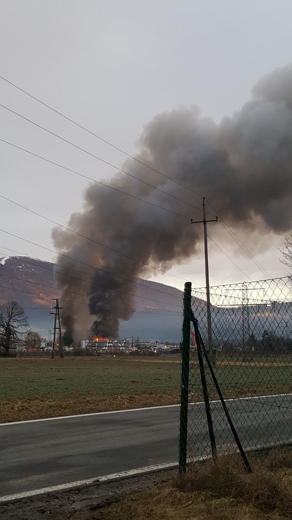 So sah das Bild in den frühen Morgenstunden am Tag des Brandes aus (13. März)